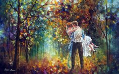 The official online virtual gallery of Leonid Afremov here you can order original oil paintings directly from the world renown artist Leonid Afremov