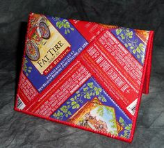 Mini Wallet from Recycled New Belgium Fat Tire beer labels by squigglechick, $18.00