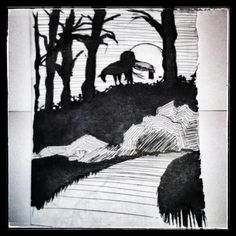 """Sleepy Hollow"" scene design & attempt to mood creation"