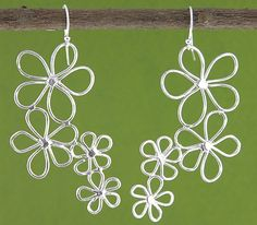 Floating Flower Earrings: Handmade