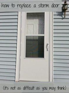 Tutorial How To Replace Storm Door September 21 2019 At 11 11am Storm Door Storm Door Installation Garage Door Design