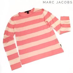Marc Jacobs pink blush light cashmere sweater Marc Jacobs pink blush light cashmere sweater. In good condition, with minor wear and pilliness throughout; there are a few small spots on lower front. Marc Jacobs Sweaters Crew & Scoop Necks