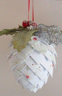 Christmas ● DIY ● Tutorial ● Paper Pinecone Ornament