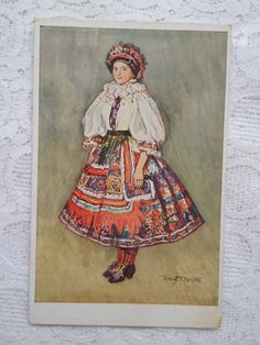 Everything Is Fine, Etsy Shipping, Small Flowers, Postcard Size, Folk Art, Art Nouveau, Ethnic, Costumes, Traditional