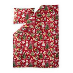 Christmas Moomin duvet cover set red 150 x 210 cm by Finlayson