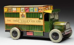 English Chad Valley Tin Litho Wind-Up Biscuit Van