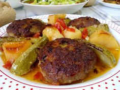 Greek Cooking, Cooking Time, Cookbook Recipes, Cooking Recipes, Weird Food, Greek Recipes, Steak, Food And Drink, Sweets