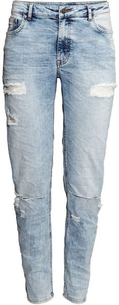 H&M - Girlfriend Jeans - Light denim blue - Ladies - Click to go straight to the website to find info & price :)