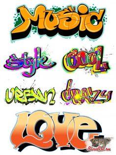 Векторный клипарт - Надписи граффити