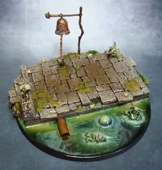 Wargame scenery  CLIFF HILL 28 mm Warhammer W40K Terrains 4 Games