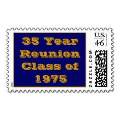 30 Year Reunion Invitation 2010 Class of 1980 Postage Reunion Invitations, Self Inking Stamps, 30 Years, Graduation, Stationery, Family Reunions, Board, Ideas, Reunions
