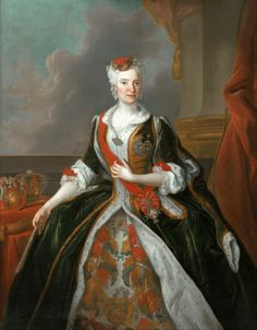 after 1737 Louis de Silvestre - Portrait of Maria Josepha of Austria