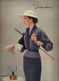 Fabulous Fashion Magazine Ad, 1957 Vogue Magazine, Paper Ephemera, Advertising, Wall Art, Home Decor, Wall Hanging