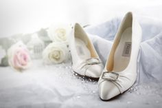 One of our newest additions to the #Wedding Collection, the Penny is ideal for those looking for a simple but graceful shoe. This closed toe shoe is given a classic, elegant look with its sparkling buckle and ruched satin detailing on the vamp. #wedding #fashion #bride #shoes #madeinengland