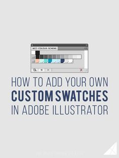 Adding custom swatches to your Adobe workspace is a great way to speed up your work flow and make it a lot easier to stay on brand! Here's how.