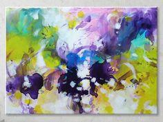 Abstract painting by Svetlansa #svetlansa #homedecor #largepainting #largeart #abstractpainting #greenart #greenpainting #wallart #artwork #white #violet #etsy #bestofetsy