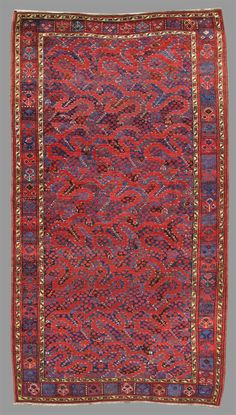 Turkmen Cloudband Bashir rug, mid 19th C.