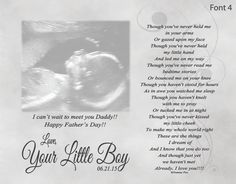Father's Day Gift for Expecting Dad From Unborn Baby Personalized Poetry Print Though You've Never Held Me by foxcreationsonline on Etsy https://www.etsy.com/listing/233182471/fathers-day-gift-for-expecting-dad-from