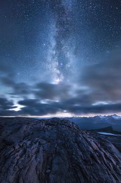 """""""Bright Universe"""" - An interesting rock formation on Mount Baker WA under the Milky Way Galaxy [OC][1691x2560]   landscape Nature Photos"""