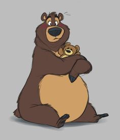 Natural Bear Behavior - by Eligecos Cartoon Sketches, Animal Sketches, Animal Drawings, Bear Cartoon, Cute Cartoon, Cartoon Art, Bear Character, Character Design, Bear Drawing
