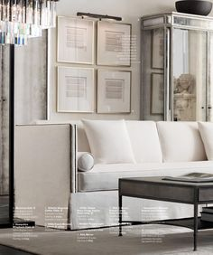 this ius the restoration hardware I love; the grand and elegant, softer side. Sofa Furniture, Restoration Hardware Dining Room, Living Room Decor, Home Decor, House Interior, Classic Interior Design, Interior Design, Living Decor, Home And Living