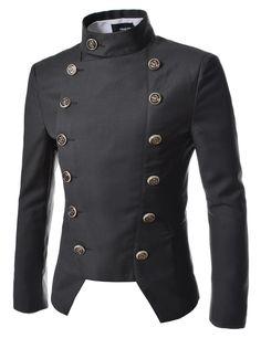 TheLees (NJK4) Manns leger doppelt Breasted High neck Slim fit Short Blazer Jacke: Amazon.de: Bekleidung Mehr