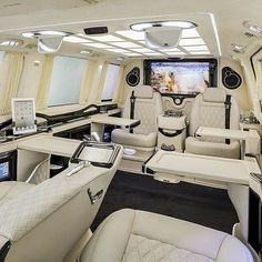 Mercedes Benz Sprinter Van designed by Erbakan Malkoc Courtesy of – Luxury Office Designs Van Mercedes, Mercedes Benz Sprinter, Mercedes Auto, Custom Mercedes, Sprinter Van, Yacht Design, Luxury Van, Van Interior, Yachts