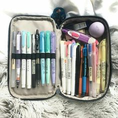 tanya's studyblr — peachystudy: i am SO obsessed with my 50 Pens Pen. Middle School Supplies, Diy School Supplies, College Supplies, School Supplies Highschool, Stationary School, School Stationery, Stationary Store, Stationary Supplies, Kawaii Stationery