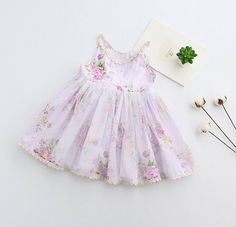 27.19$  Watch here - http://alit95.shopchina.info/1/go.php?t=32815318901 - 2017 Summer Girl Cotton Lace Dress Lavender Baby Girl Flower Birthday Dresses Elegant Cute Childrens Dress Kids Costume Princess  #buychinaproducts