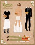 Paper doll of Ned from 'Pushing Daisies'...Yes, I love this.