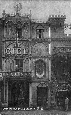 The Cabaret le Ciel (Cabaret of Heaven), a themed bar in Paris, circa 1900.
