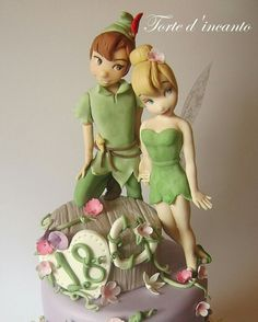 Peter Pan and Tinkerbell Topper