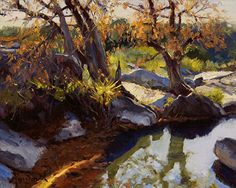 River Light by Mark Haworth Oil ~ 8 x 10