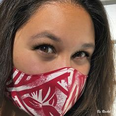 Polynesian tattoo print mask by Rachel;  thank you for sharing the photo! Etsy Shop, Trending Outfits, Unique Jewelry, Tattoos, Handmade, Vintage, Hand Made, Irezumi, Craft