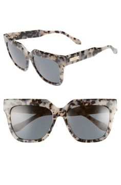 4d881fe187 Sonix Sonix Avalon 55mm Gradient Lens Square Sunglasses available at   Nordstrom Cute Glasses