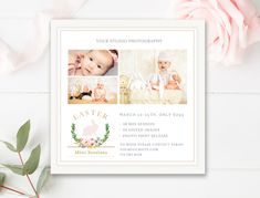 Easter Mini Session Marketing Board - 5x5 Easter Mini Session Template - Easter Marketing Board - INSTANT DOWNLOAD by ByStephanieDesign on Etsy