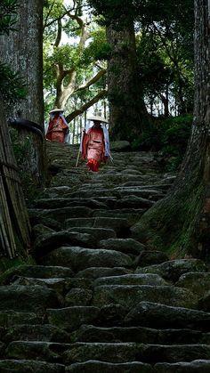 Stairway - Kumano Nachi Taisha, Wakayama,