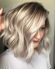 Silver And Golden Blonde Bob