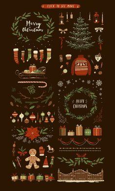 Christmas BIG PACK by Darumo Shop on @creativemarket