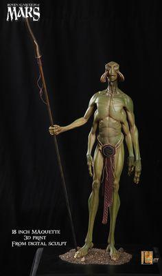 "The alien Thark ""Tars Tarkas"" of the Disney film John Carter. Concept art by Scott Patton of Legacy Effects."
