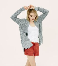 Primary Image of Lou & Grey V-Side Open Cardigan