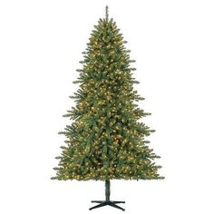 7.5ft Pre-Lit Artificial Christmas Tree 1200 Clear LED Lights Holiday Decoration #75ftPreLitArtificialChristmasTree #Christmas