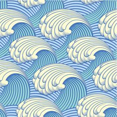 Seamless pattern with waves : Vektorgrafik