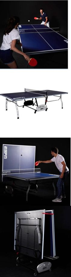 Tables 97075: Ping Pong Table Set Portable With Wheels Professional Espn  Foldable Table Tennis