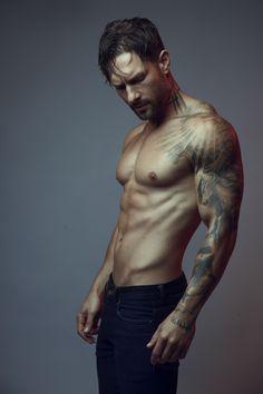 © natasha gerschon | model: @westonboucher #westonboucher #malemodels #lamodels #tattoos #sleeve #models #tatts