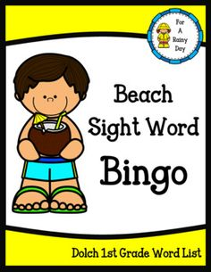 Have fun reviewing sight words while playing this beach themed bingo game. Sight words used for cards come from the Dolch first grade sight word list. Color and black/white versions both included.Included:-30 sight word bingo cards -Bingo call sheet-43 Word cards to use while calling out the sight words