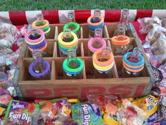 Carnival Games | Ring Toss Carnival Game Try and loop one of the many bottles for a ...