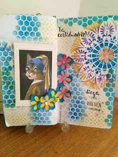 Mi Scrap: artjournal page Card Making, Scrapbook, Frame, Blog, Decor, Handwritten Quotes, Sharpies, Paper Envelopes, Flowers