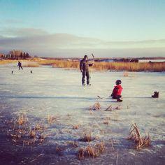 Pond Hockey; where memories are made <3
