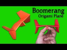 How to Make a Paper Airplane Easy and Fast for Kids ! Origami Boomerang Airplane… Comment faire un avion en … Best Paper Plane, Make A Paper Airplane, Airplane Kids, Origami Toys, Kids Origami, Useful Origami, Easy Origami, Origami Plane, Diy Crafts